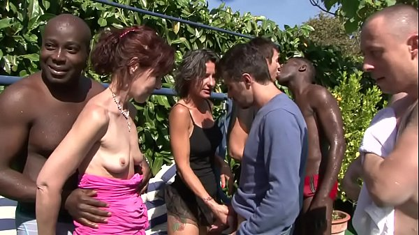 outdoor mature orgy